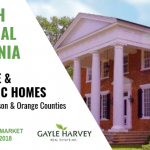 NORTH Central Virginia (Greene, Madison & Orange Counties) – Antique & Historic Homes 10/31/18