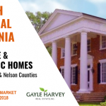 SOUTH Central Virginia (Buckingham & Nelson Counties) – Antique & Historic Homes 10/31/18