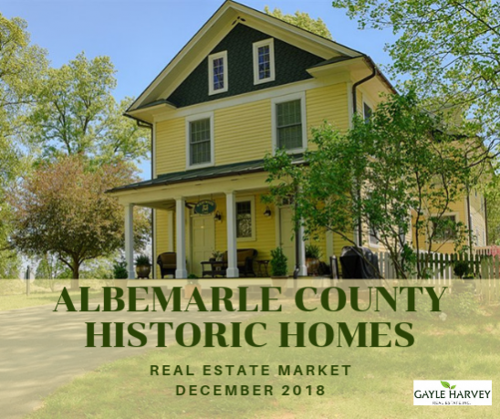 Albemarle County Antique & Historic Homes 12/31/18